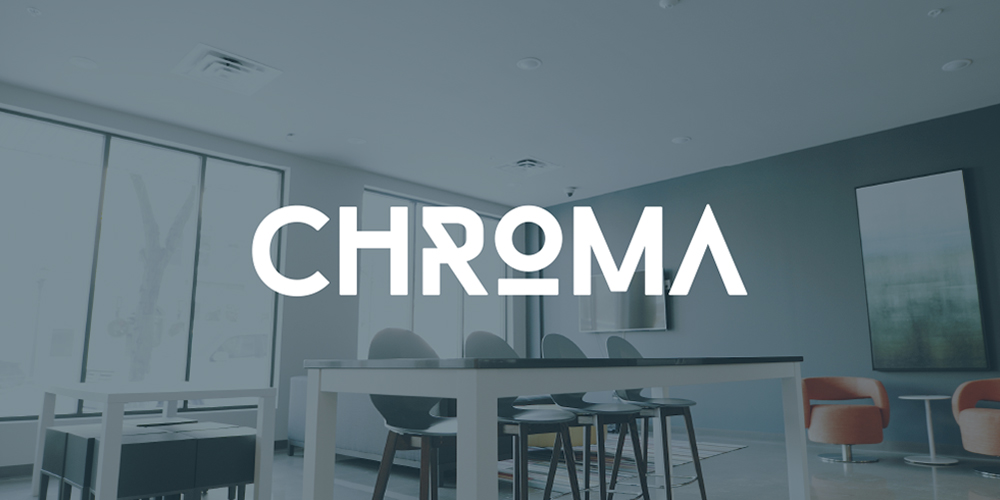 Interior living space at Chroma Apartments
