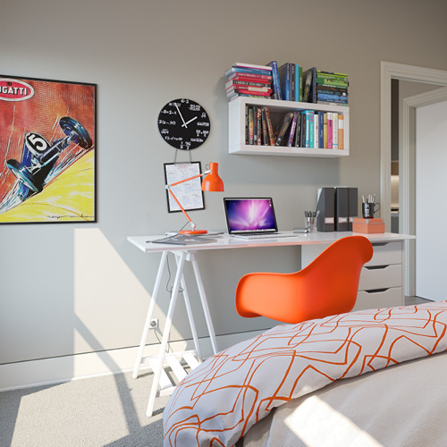 Spectrum interior bedroom