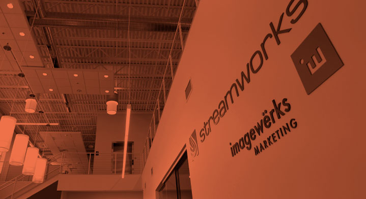 Imagewerks logo on wall of the lobby