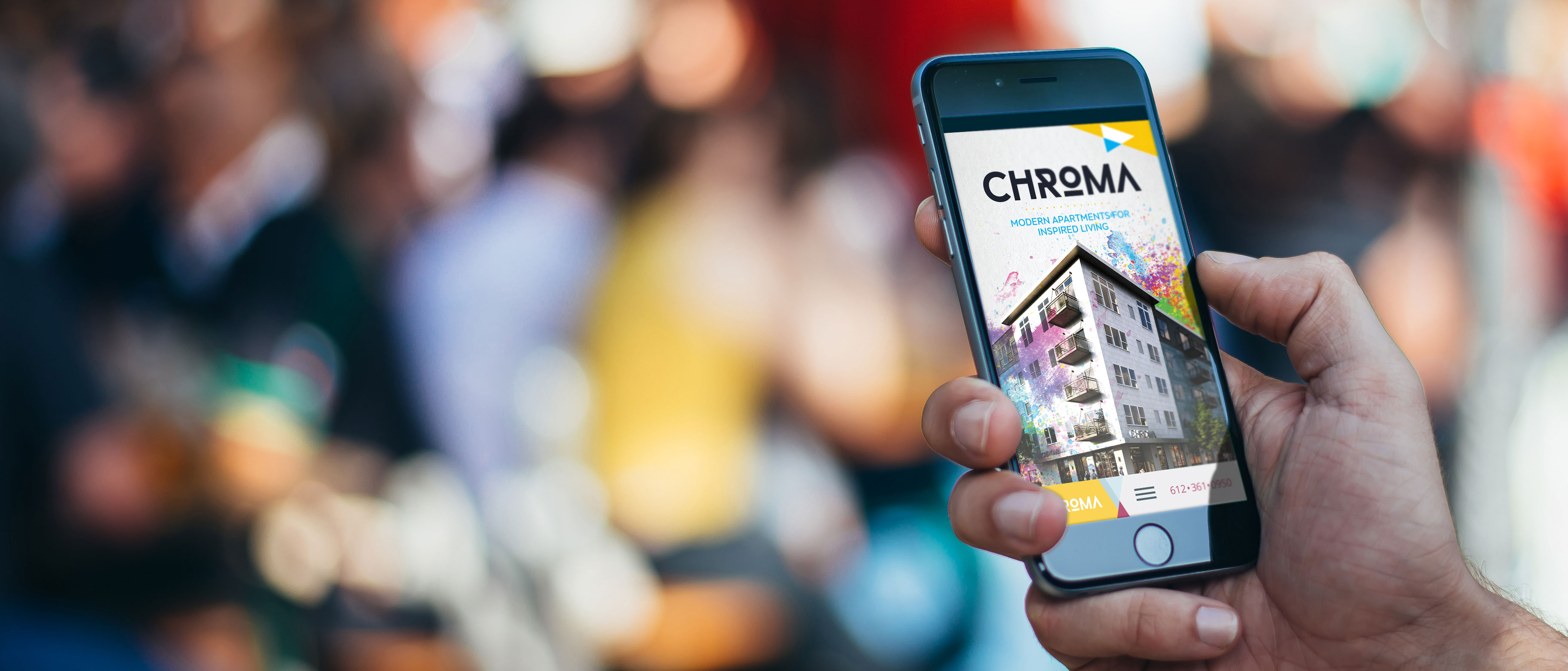 Chroma website being viewed on a mobile phone