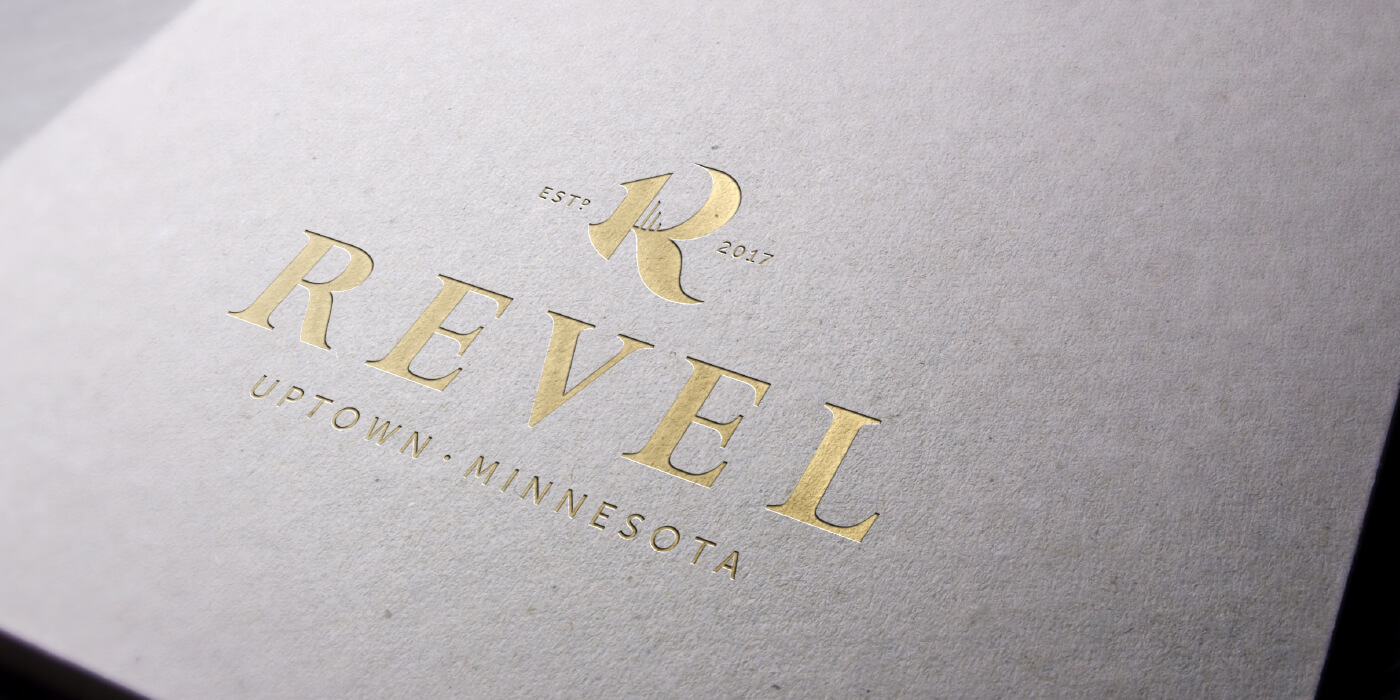 Revel logo printed