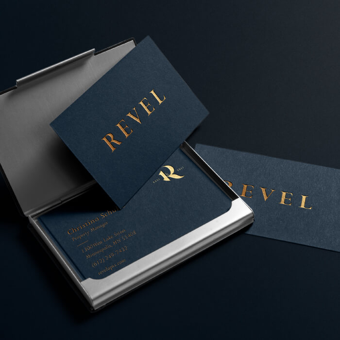 Revel business cards