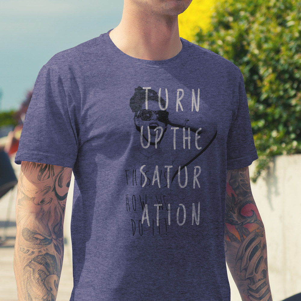 Spectrum turn up the saturation tee shirt