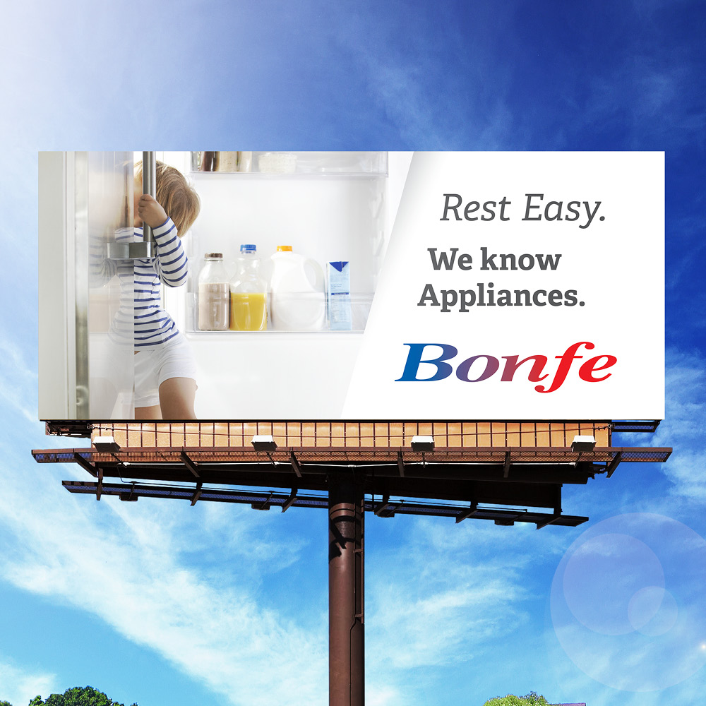Bonfe Road Sign