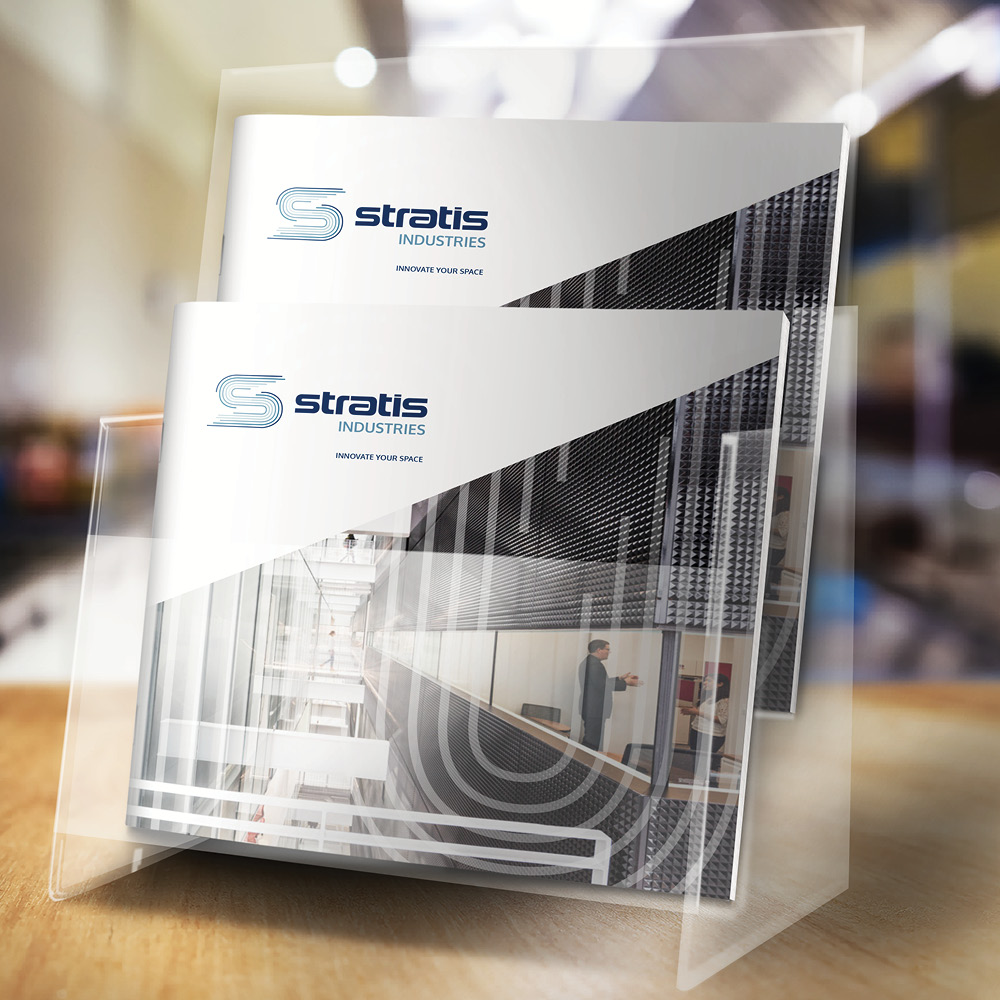 Stratis Industries brochure stand