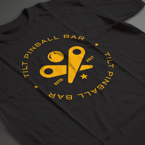 Tilt Pinball Bar T-shirt