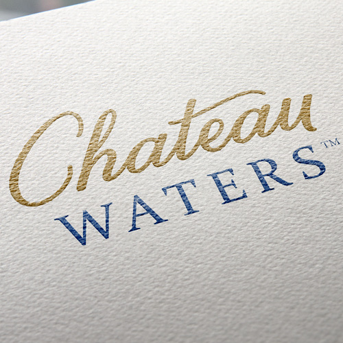 Chateau Waters logo printed